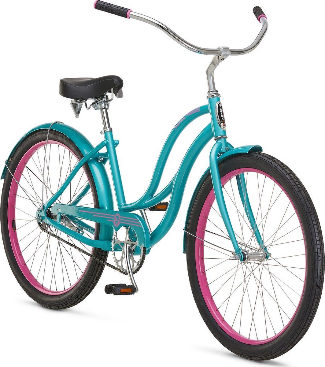 Велосипед городской Schwinn ALU 1 Women, колесо 26, голубой велосипед schwinn twister 2017