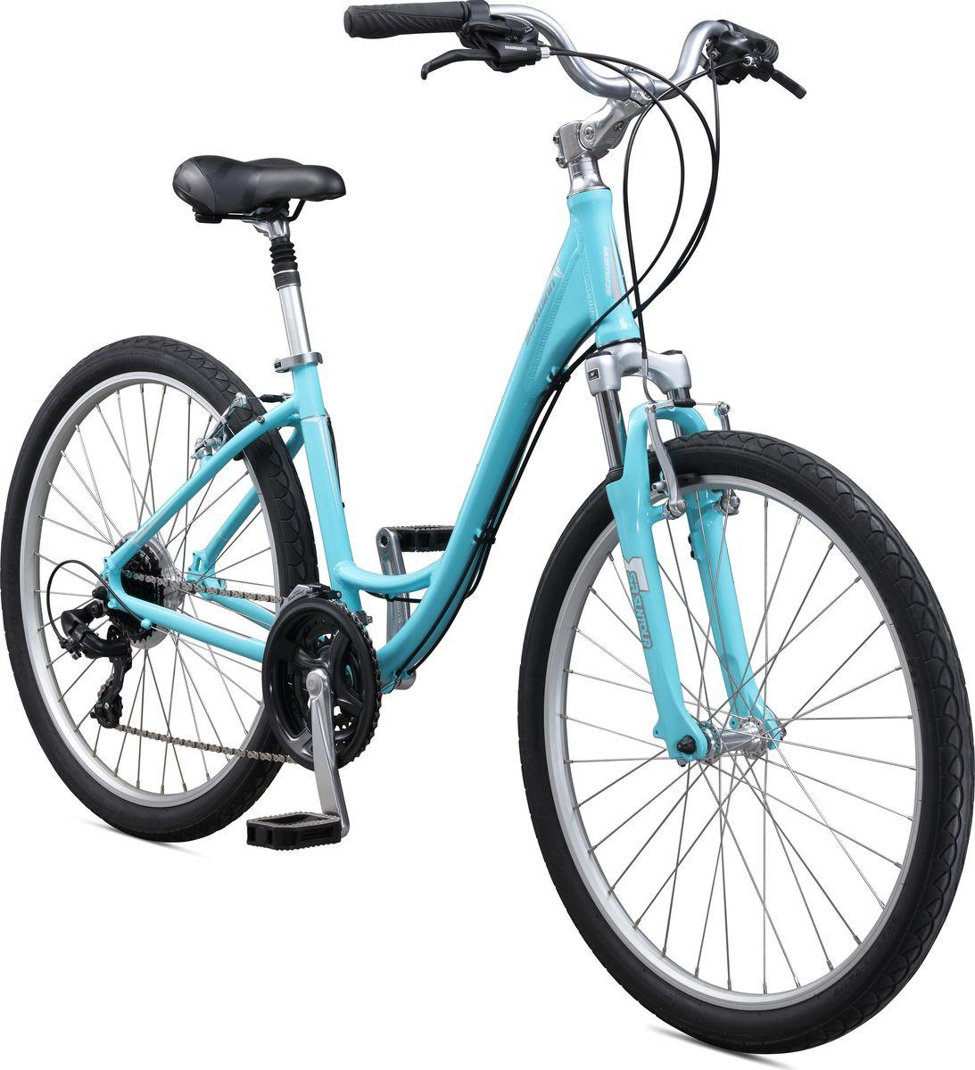 Велосипед городской Schwinn Sierra Women, колесо 26, рама S, голубой вилка амортизационная suntour гидравлическая для велосипедов 26 ход 100 120мм sf14 xcr32 rl 26