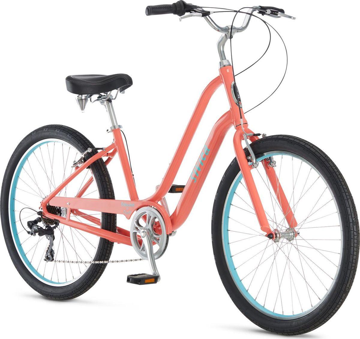 Велосипед городской Schwinn Sivica 7 Women, колесо 26, коралловый, 7 скоростей велосипед schwinn perla 7 2018