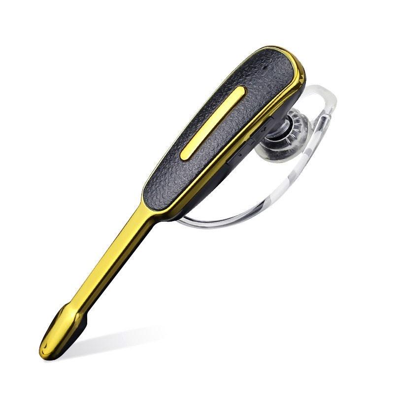 Bluetooth-гарнитура Портативная беспроводная, черный, золотой