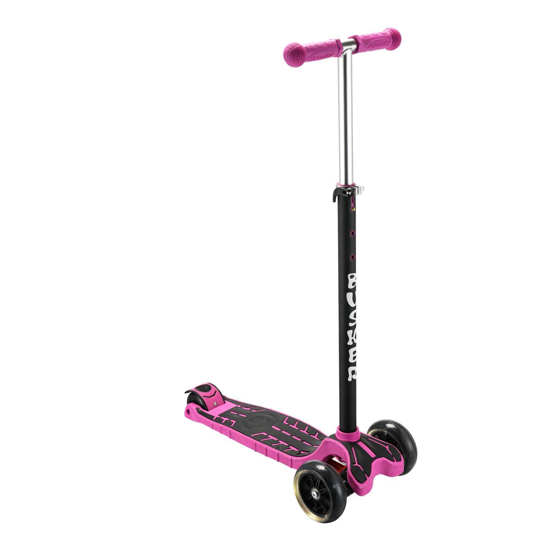 Самокат RGX BUSKER LED purple, розовый самокат rgx mini led pink розовый