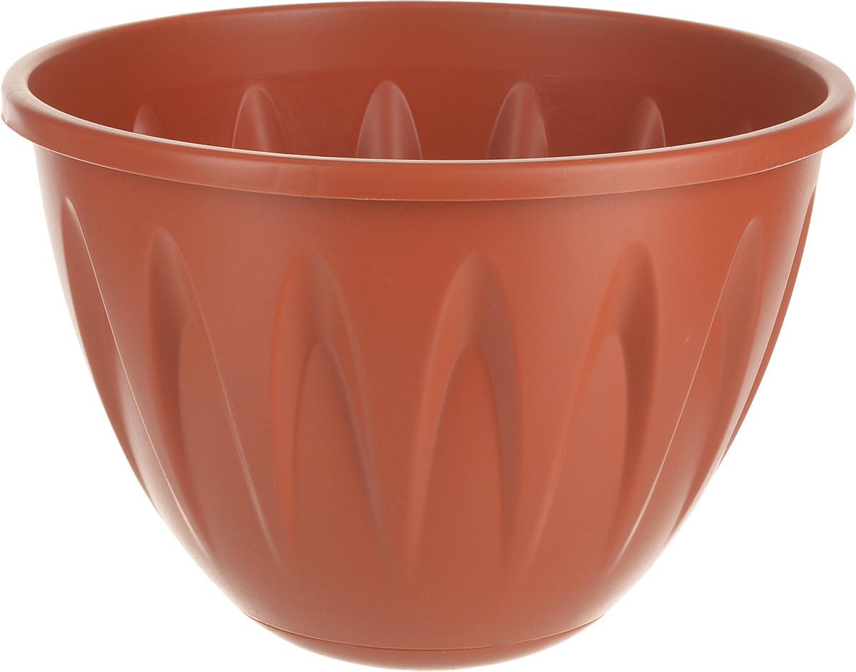 Кашпо подвесное Idea Алиция, с поддоном, цвет: терракотовый, диаметр 25 см балконный ящик idea алиция с поддоном цвет терракотовый 60 х 18 см