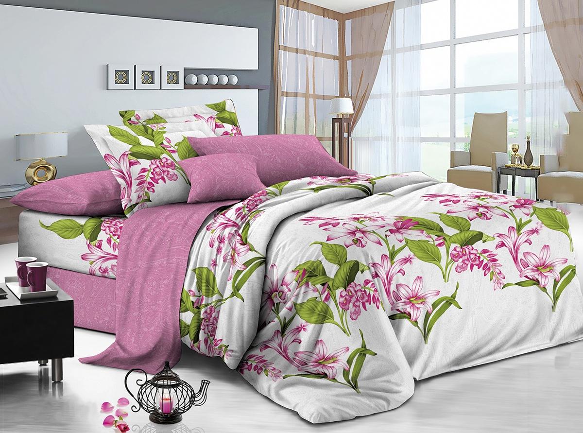 цена Комплект постельного белья ИМАТЕКС IM0321-2е-70х70, зеленый, светло-серый, розовый онлайн в 2017 году