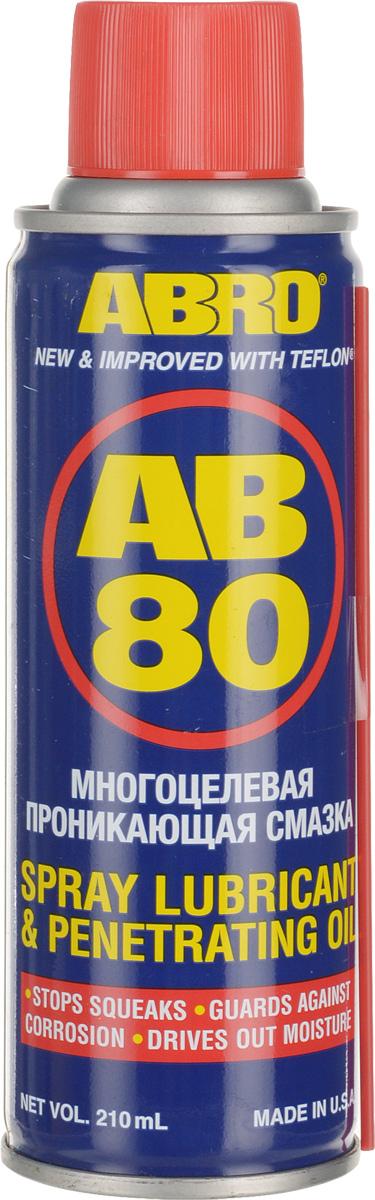 Смазка-спрей универсальная Abro, с тефлоном, 210 мл краска спрей abro masters цвет серый грунт sp 008 am
