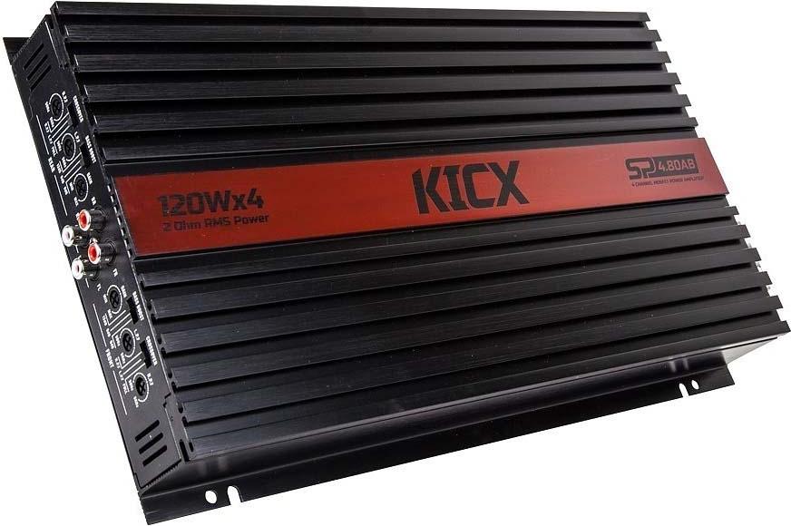цена на Усилитель автомобильный Kicx SP 4.80AB, четырехканальный