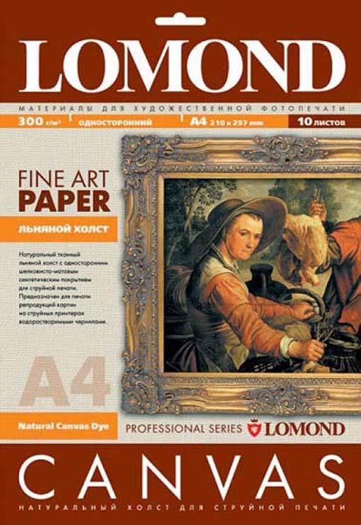 Холст Lomond 0908411, для струйной печати, матовая, белый, A4, 10 листов