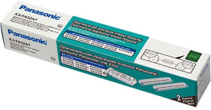 Термопленка Panasonic KX-FA52A для FP207/218/FC258/228, 30 м, 2 шт аксессуар panasonic kx fa52a для факсов kx fp207 kx fc215 kx fp218 kx fc228 kx fc258