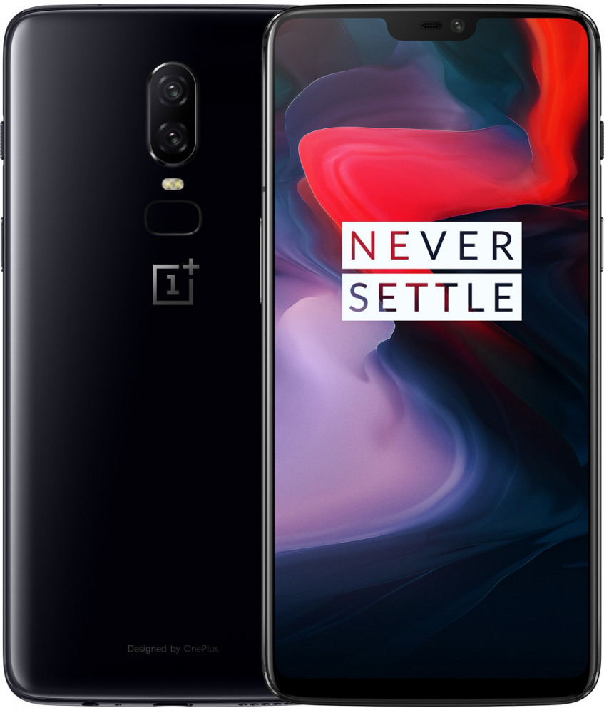 Смартфон OnePlus 6, зеркальный черный смартфон honor 10 128gb phantom green kirin 970 2 36ghz 4gb 128gb 5 84 2280x1080 2 sim 3g lte bt wi fi 16mp 24mp 24mp gps glonas android 8 1