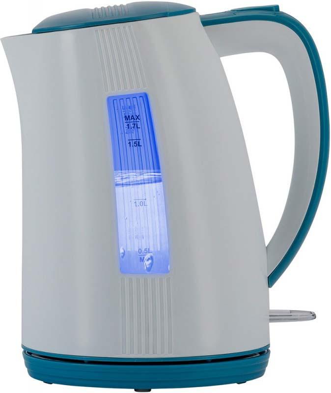 Чайник электрический Polaris PWK 1790СL, белый, синий, 1,7 л, 2200 Вт