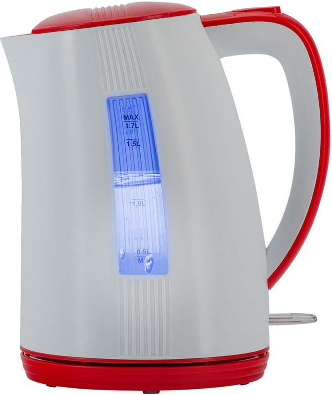 Чайник электрический Polaris PWK 1790СL, белый, красный, 1,7 л, 2200 Вт