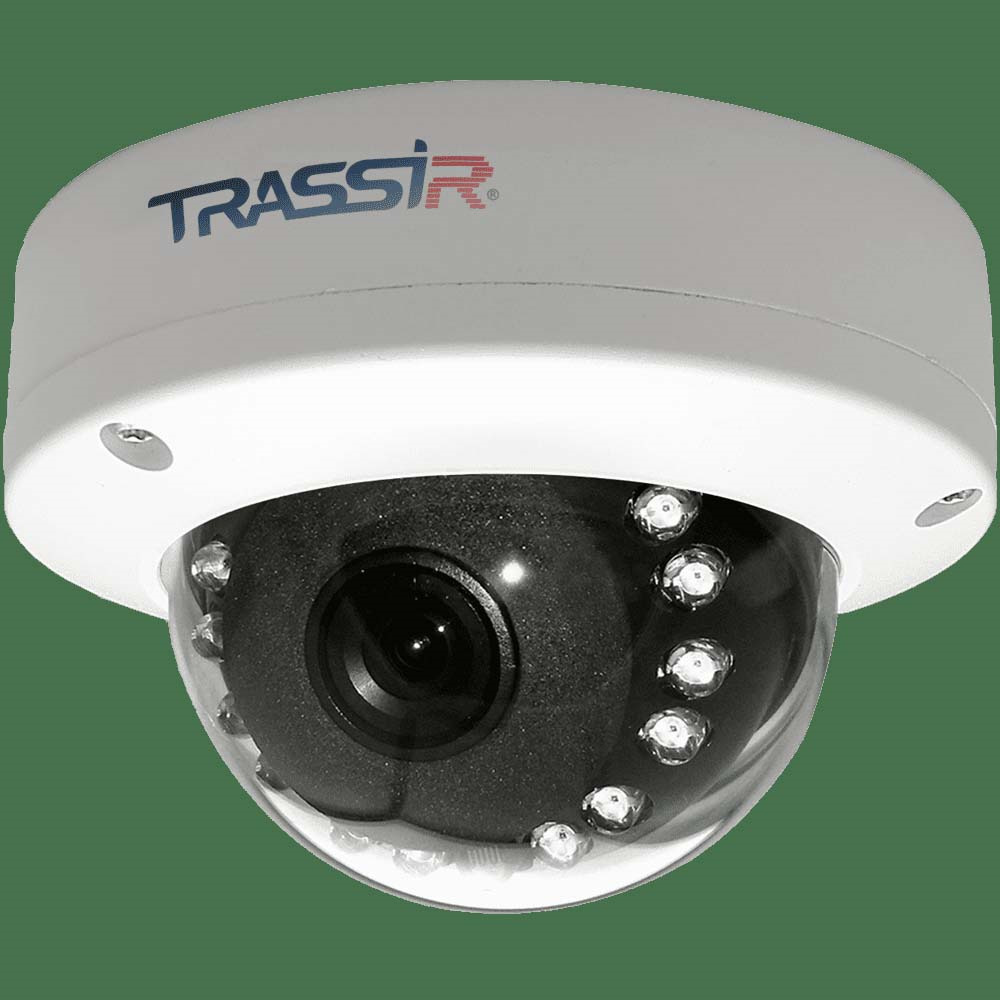 все цены на Видеокамера IP Trassir TR-D3111IR1 3.6-3.6 мм, белый онлайн