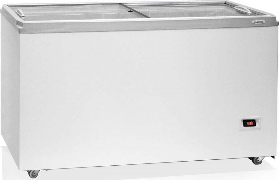 Морозильный ларь Бирюса Б-455VDZQ, белый цена и фото