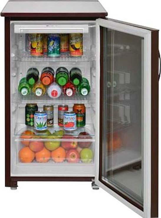 Холодильная витрина Саратов 505-01, однокамерная, коричневый Саратов