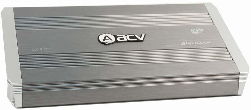 Усилитель автомобильный ACV GX-4.250, четырехканальный, 32357 усилитель acv gx 4 250