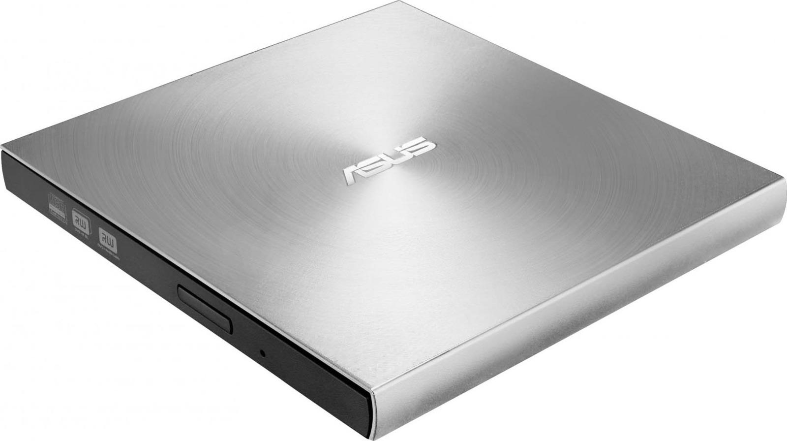 Привод DVD-RW Asus, SDRW-08U7M-U/SIL/G/AS, серебристый привод asus zendrive u9m sdrw 08u9m u blk g as