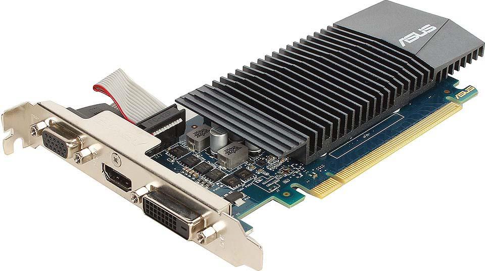 Видеокарта ASUS GeForce GT 710 1GB, GT710-SL-1GD5-BRK for asus k73t x73t k73ta k73tk r73t latop motherboard qbl70 la 7553p hd7670m 1gb mainboard 100