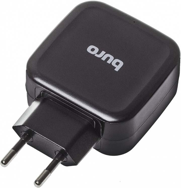 Сетоевое зарядное устройство Buro, TJ-286B автомобильное зарядное устройство buro tj 201b 2 х usb 4 8 а черный