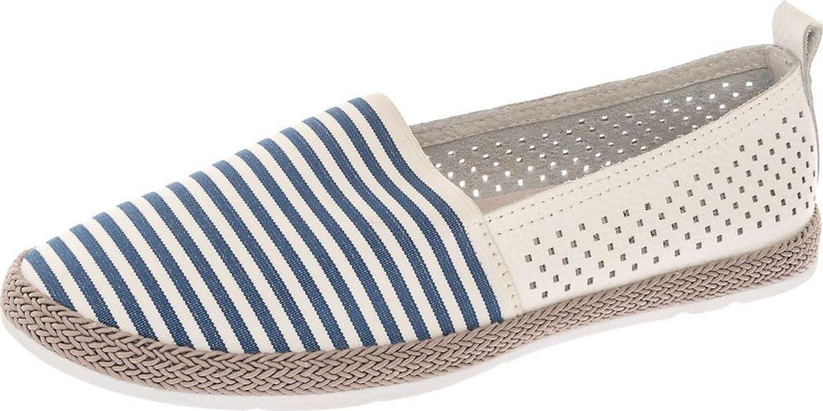 Туфли женские Crosby, цвет: белый, синий. 497128/01-01. Размер 38497128/01-01