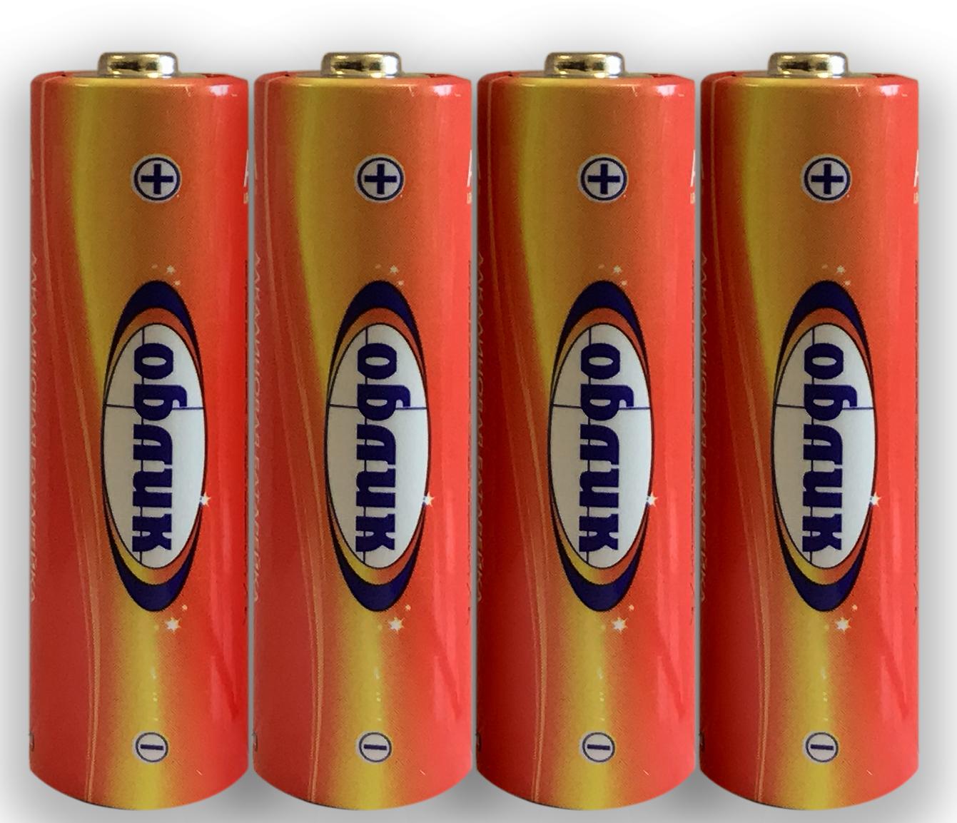 Батарейка Облик Алкалиновый элемент питания LR6 (AA) батарейка d panasonic zinc carbon r20rz 2bp r20 bl2 2 штуки