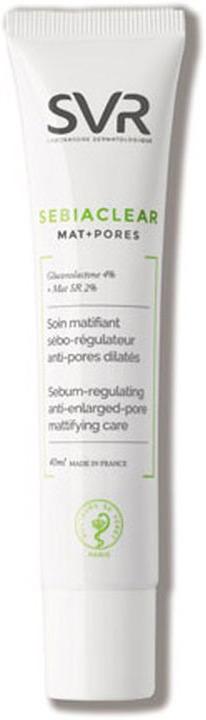Гель для ухода за кожей SVR Себиаклир Мат+Поры, 40 мл1004316Себиаклир Гель-уход устраняет жирный блеск, увлажняет и придает коже матовость в течение 8 часов. Благодаря эффекту мягкого пилинга без АНА-кислот крем визуально сужает поры, выравнивает поверхность кожи. Растительные полисахариды, входящие в состав средства, обеспечивают увлажнение в течение 72 часов. Для комбинированной жирной кожи, а также кожи с недостатками.