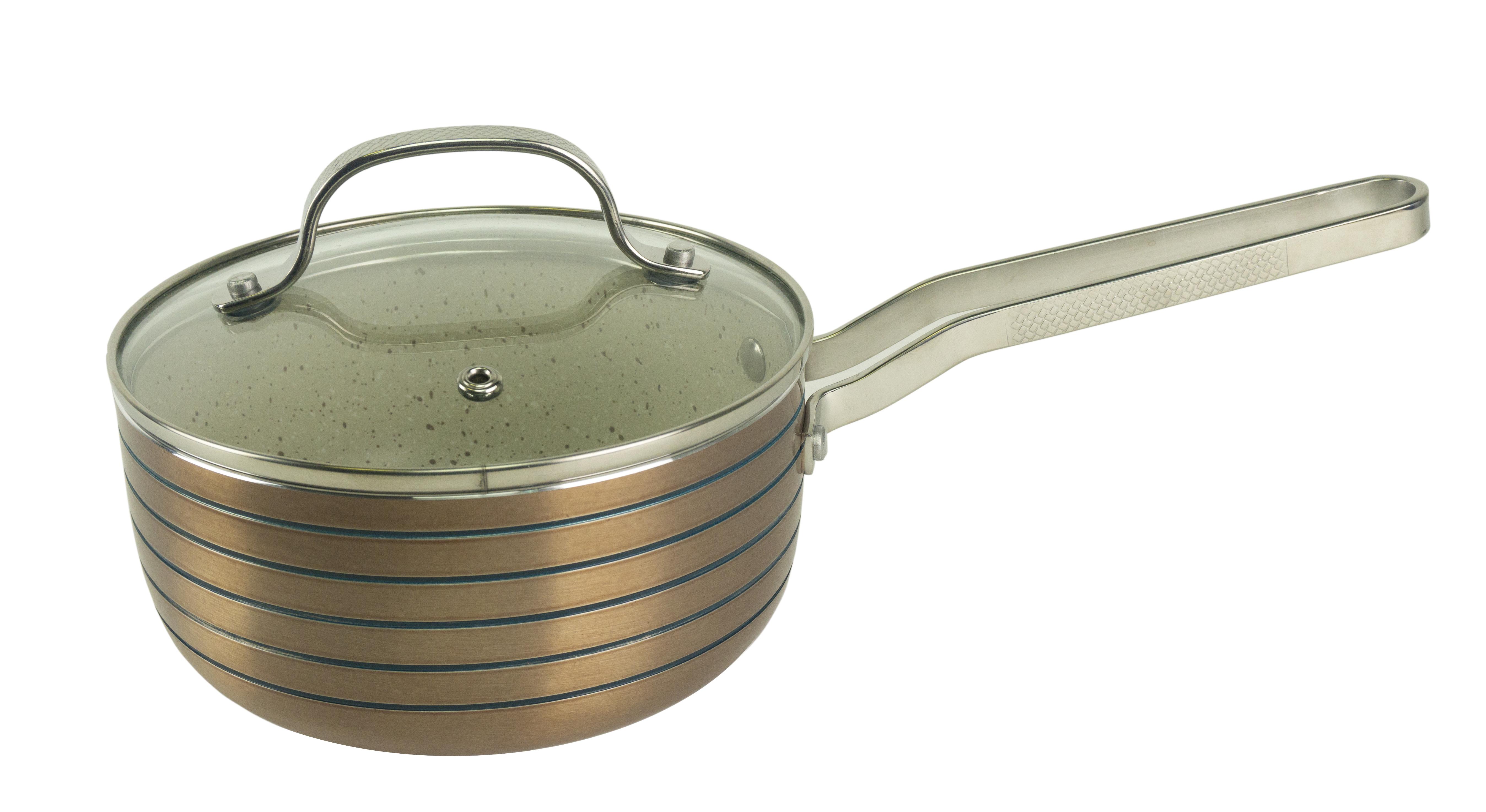 Кухонный ковшик BOHMANN 382016ВН/6, бежевый крышка стеклянная bekker с металлическим ободком