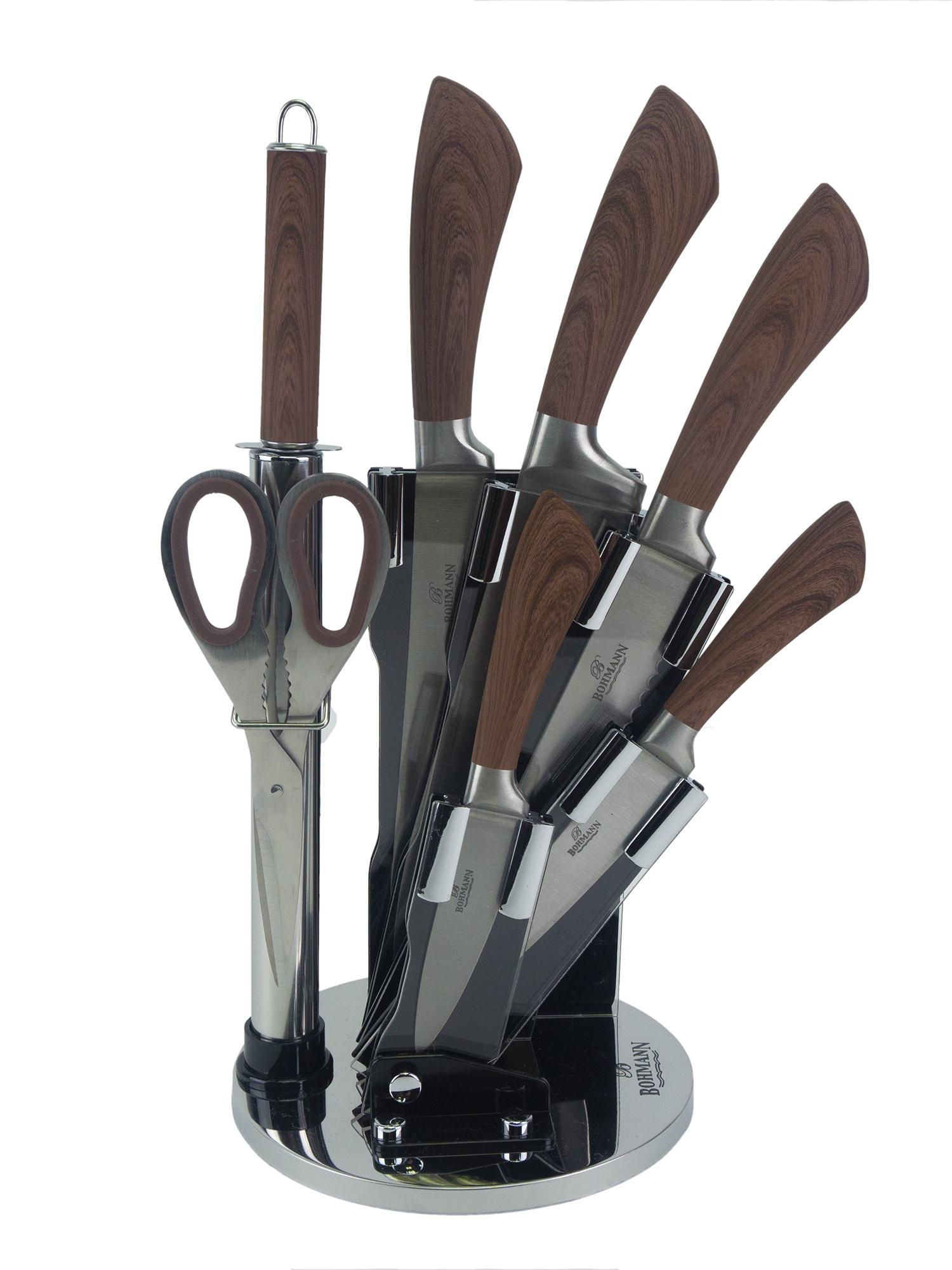 Нож столовый BOHMANN Набор ножей, светло-коричневый sharpeners кухня точило системы профессиональных нож новый исправить угол ножницы
