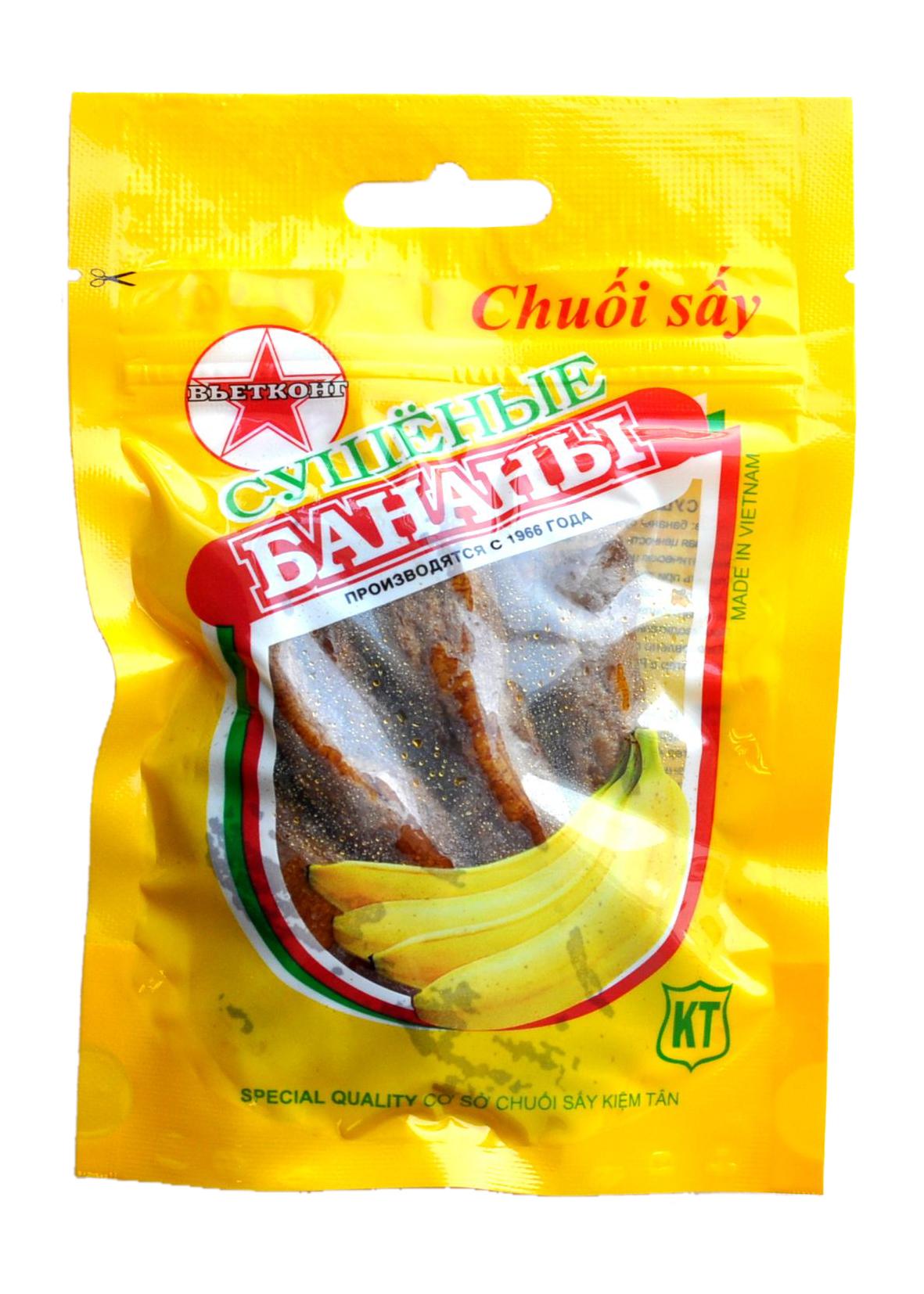 Сухофрукты Вьетконг Бананы сушеные, 100 г