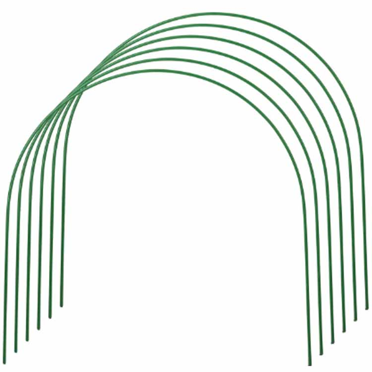 Комплект дуг для парника Пикник и Сад Дуги парниковые 2 м, 6 шт, зеленый