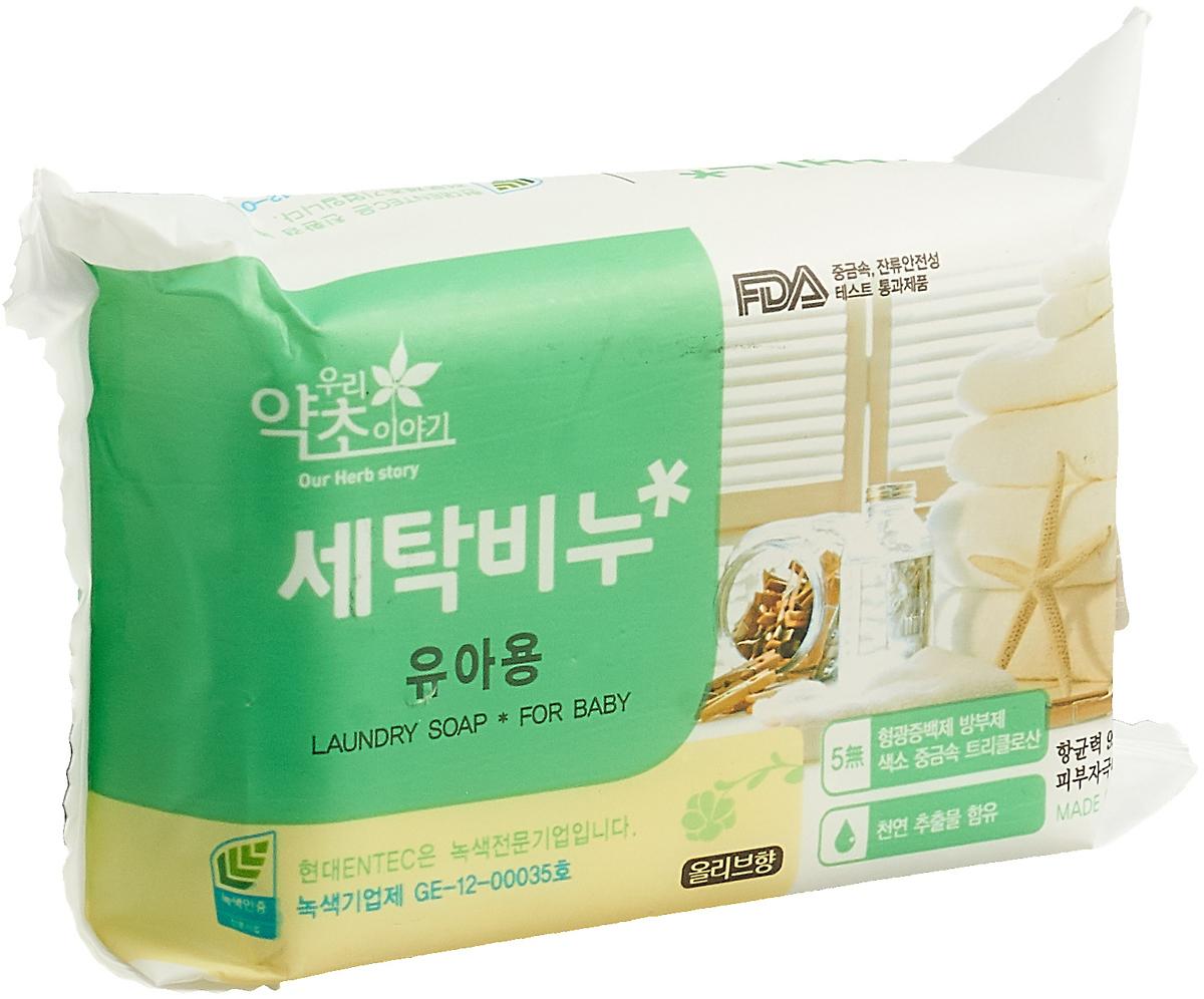 Мыло для стирки Korea Our Herb Story детское, с оливой, 200 г цена