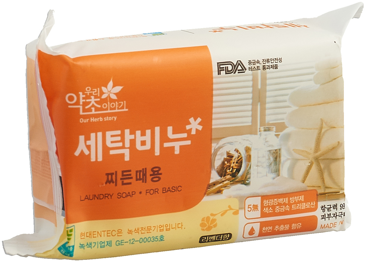 Мыло для стирки Korea Our Herb Story с экстрактом лаванды, 200 г цена