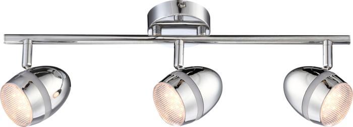 Настенно-потолочный светильник Globo New 56206-3, серый металлик светильник спот globo virunga 541012 3