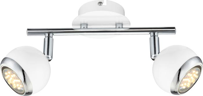 Настенно-потолочный светильник Globo New 57882-2, GU10, 2 Вт спот globo oman 57882 2