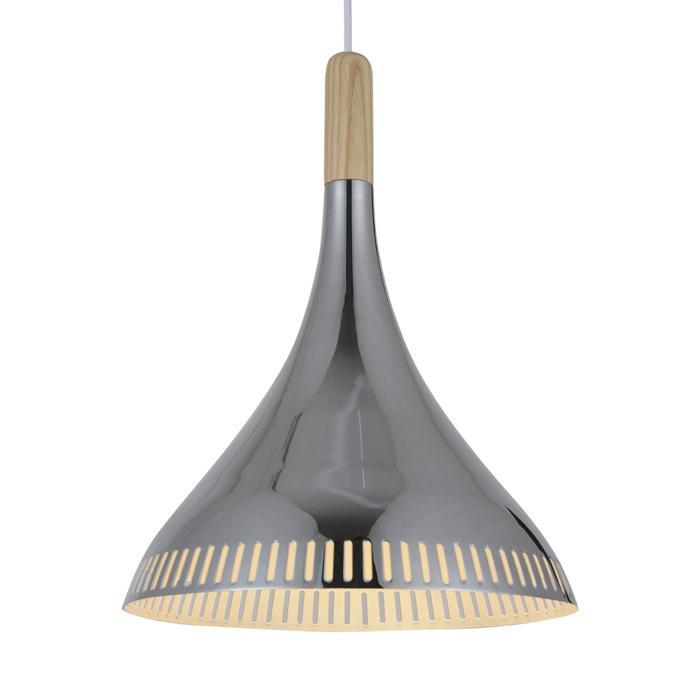 Подвесной светильник St Luce SL710.103.01, серый металликSL710.103.01Подвесной светильник St Luce SL710.103.01 серии Agilita в стиле лофт хорошо впишется в любой интерьер. Размеры (Диаметр х Высота) 300х400 мм.