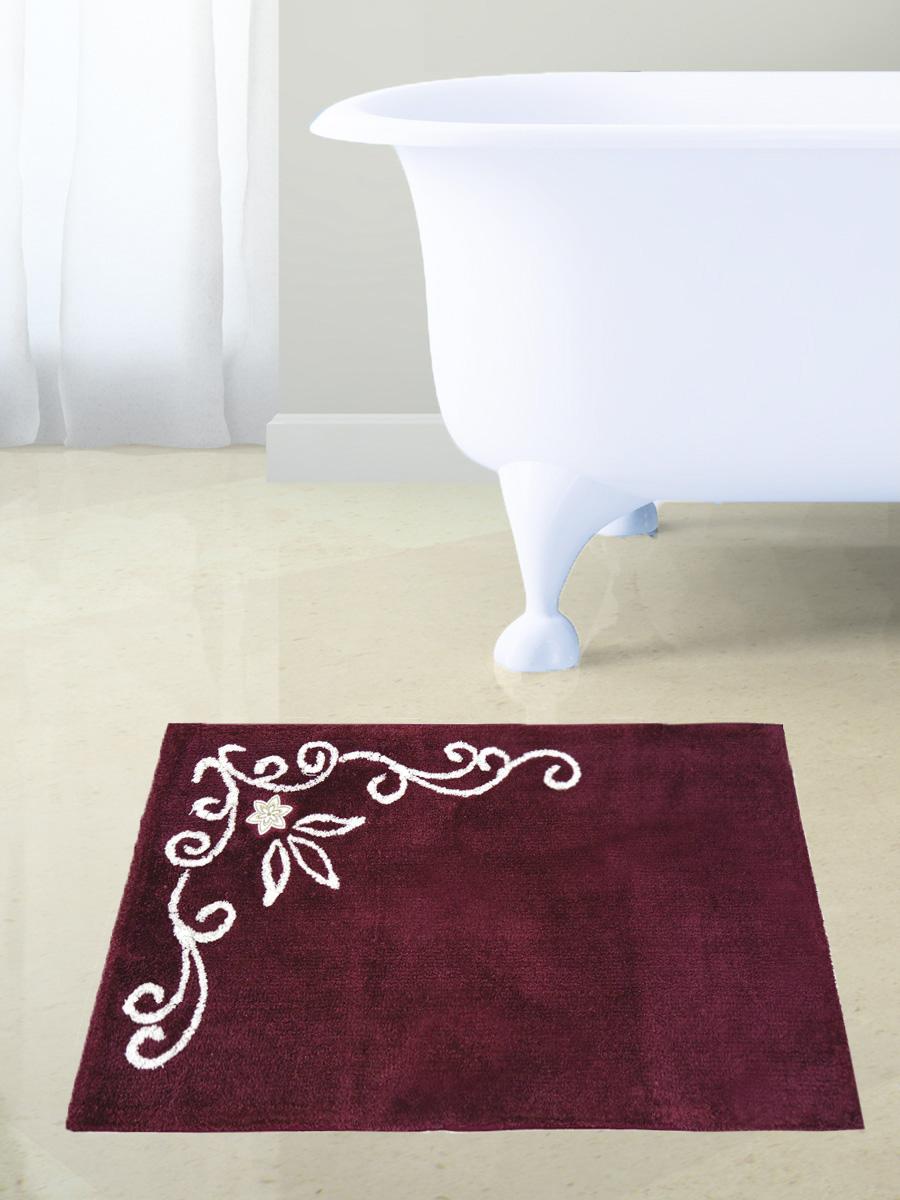 Коврик для ванной Bath Plus LC, бордовый
