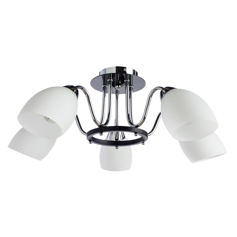 Потолочный светильник Arte Lamp A7144PL-5BK, серый металлик миниатюра в багете 26х32 arte fiorentino
