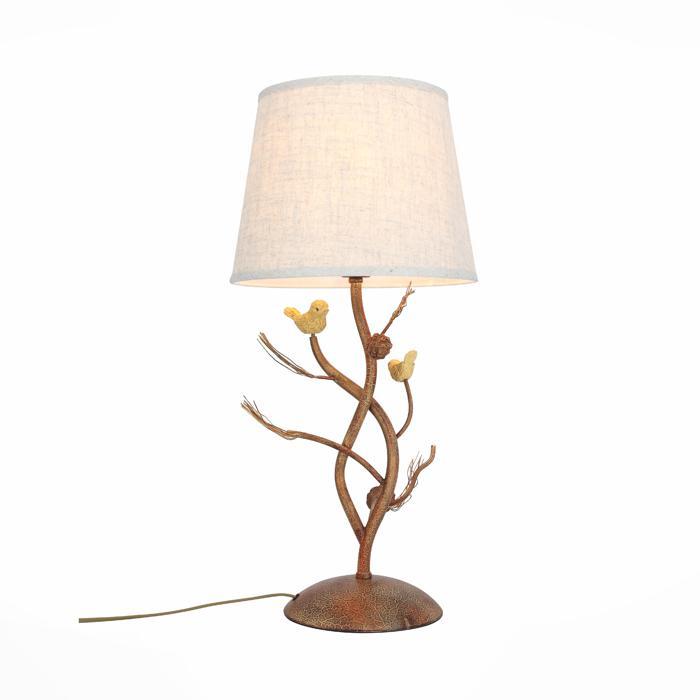 Настольный светильник St Luce SL167.704.01, коричневый лампа настольная декоративная st luce кsl971 524 01 хром прозрачный коричневый бежевый