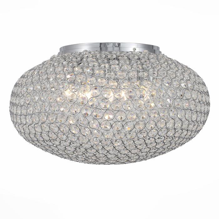 Потолочный светильник St Luce SL753.102.08, серый металликSL753.102.08Потолочная люстра St Luce SL753.102.08 серии Calata в стиле модерн создаст в помещении атмосферу комфорта. Размеры (Диаметр х Высота) 500х300 мм.