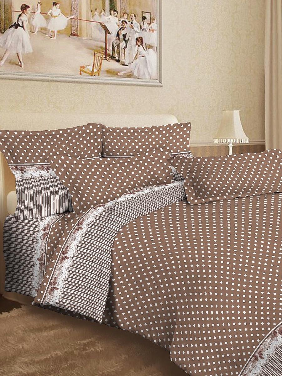 Комплект постельного белья ИМАТЕКС 9782-1-сем-70х70, светло-коричневый, белый donson 70х70 см delicate