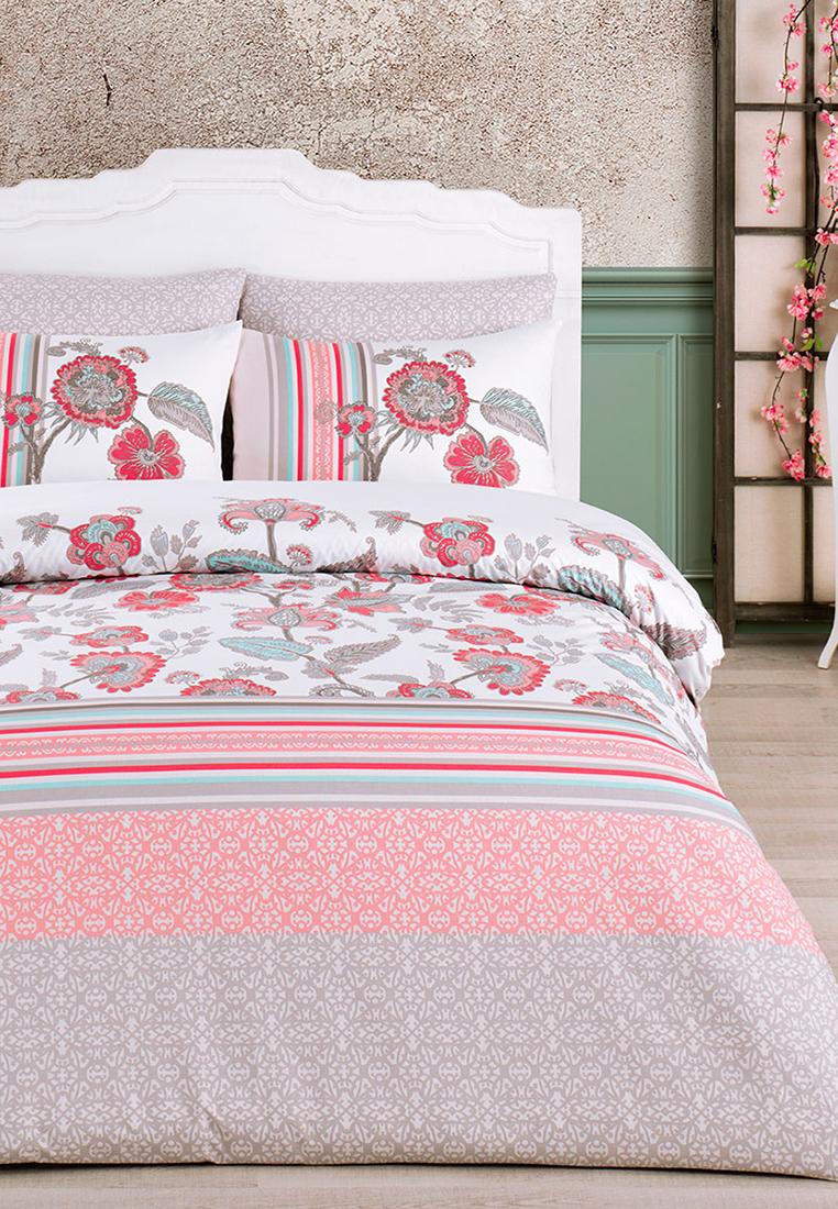 цена на Комплект постельного белья Arya home collection Vinea, розовый