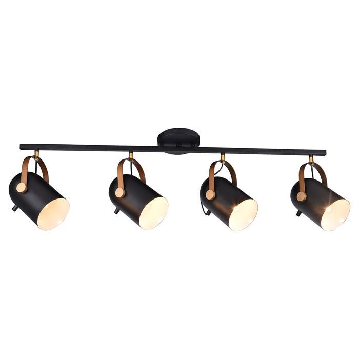 Настенно-потолочный светильник Idlamp 364/3PF-Black, черный цена