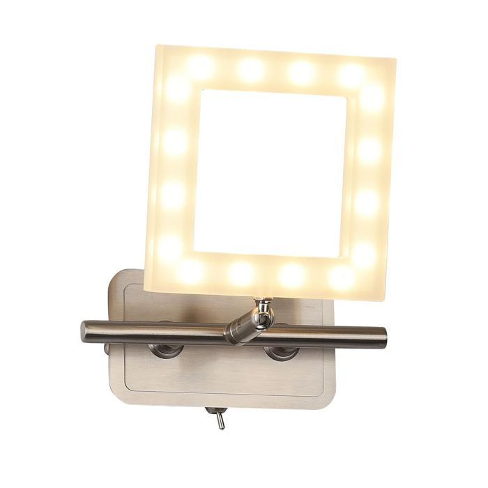 Бра Idlamp 106/1A-LEDWhitechrome, бежевый бра idlamp 913 1a whitechrome