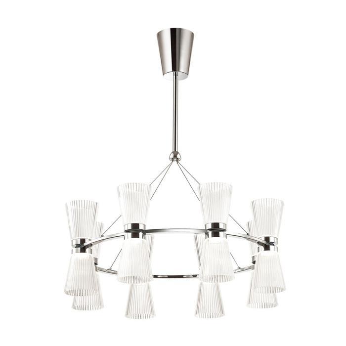 Подвесной светильник Odeon Light 4013/81L, серый металлик подвесная светодиодная люстра odeon 4013 81l