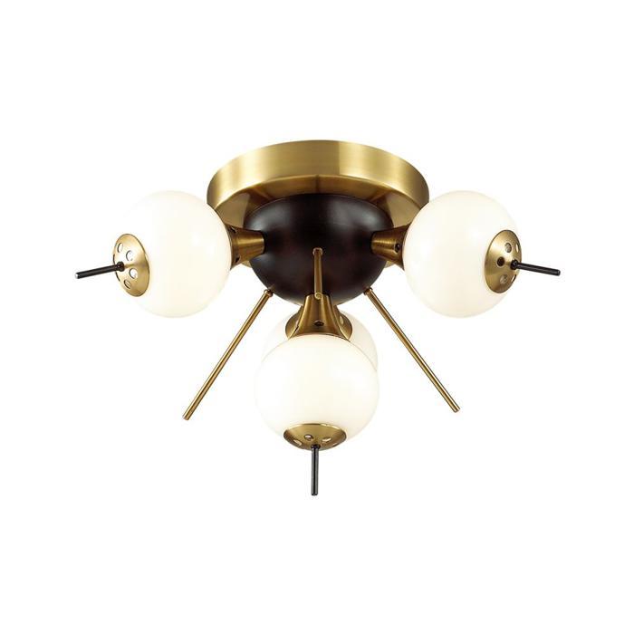 Потолочный светильник Odeon Light 3996/4C, бронза odeon потолочная люстра odeon light crea 2597 4c