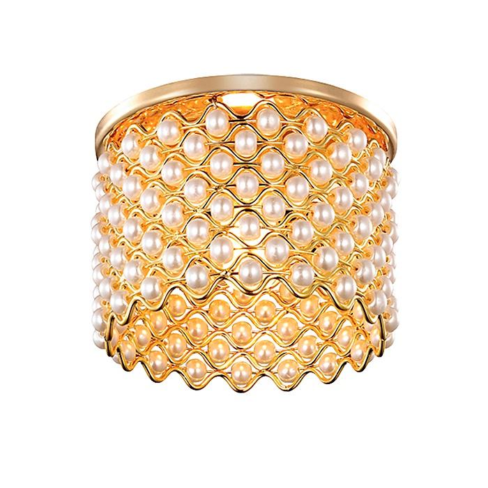 Встраиваемый светильник Novotech 369890, золотой цена