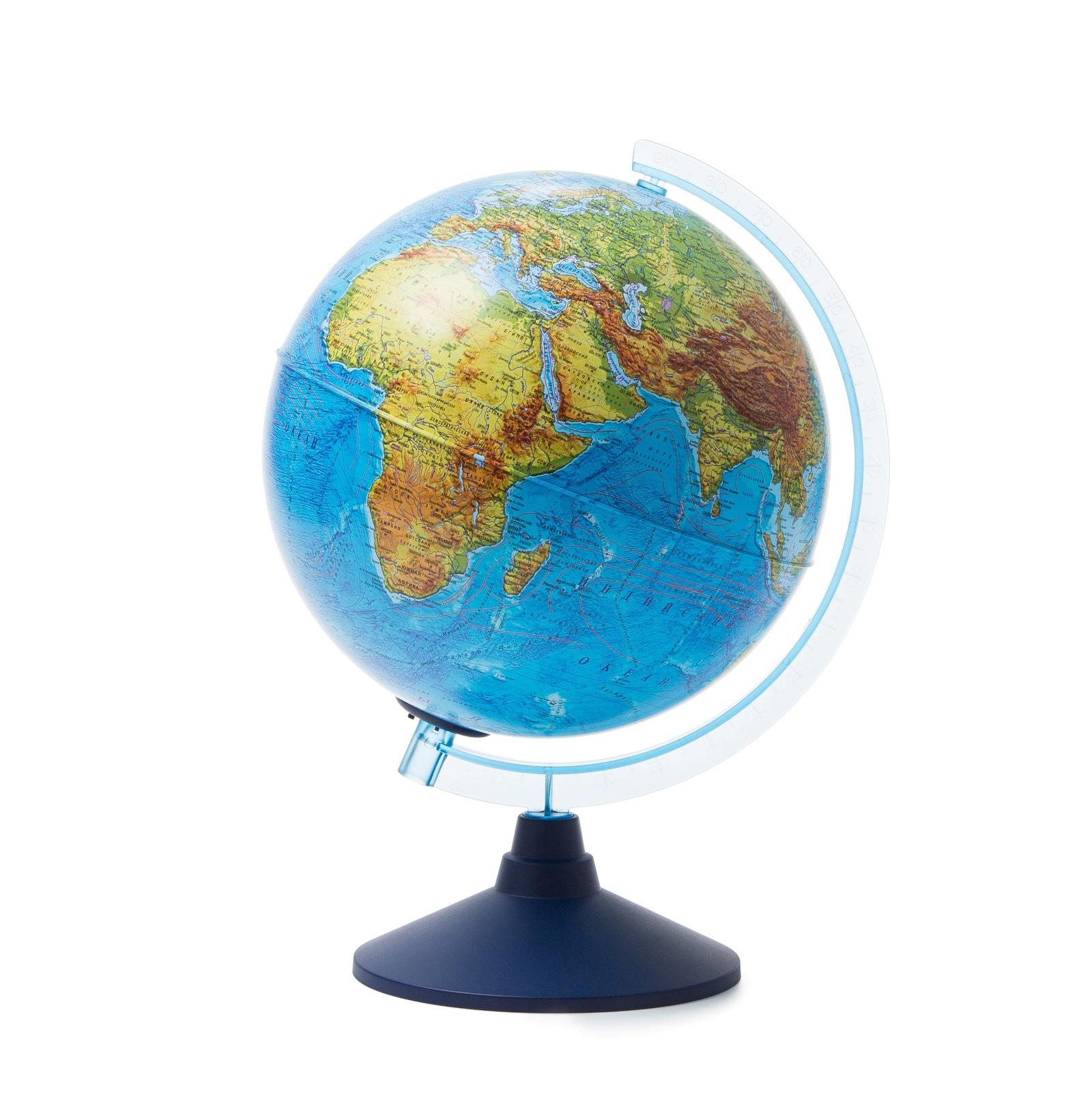 Глобус Globen Земли физико-политический с подсветкой на батарейках, диаметр 25 см globen глобус земли globen физико политический с подсветкой 320мм