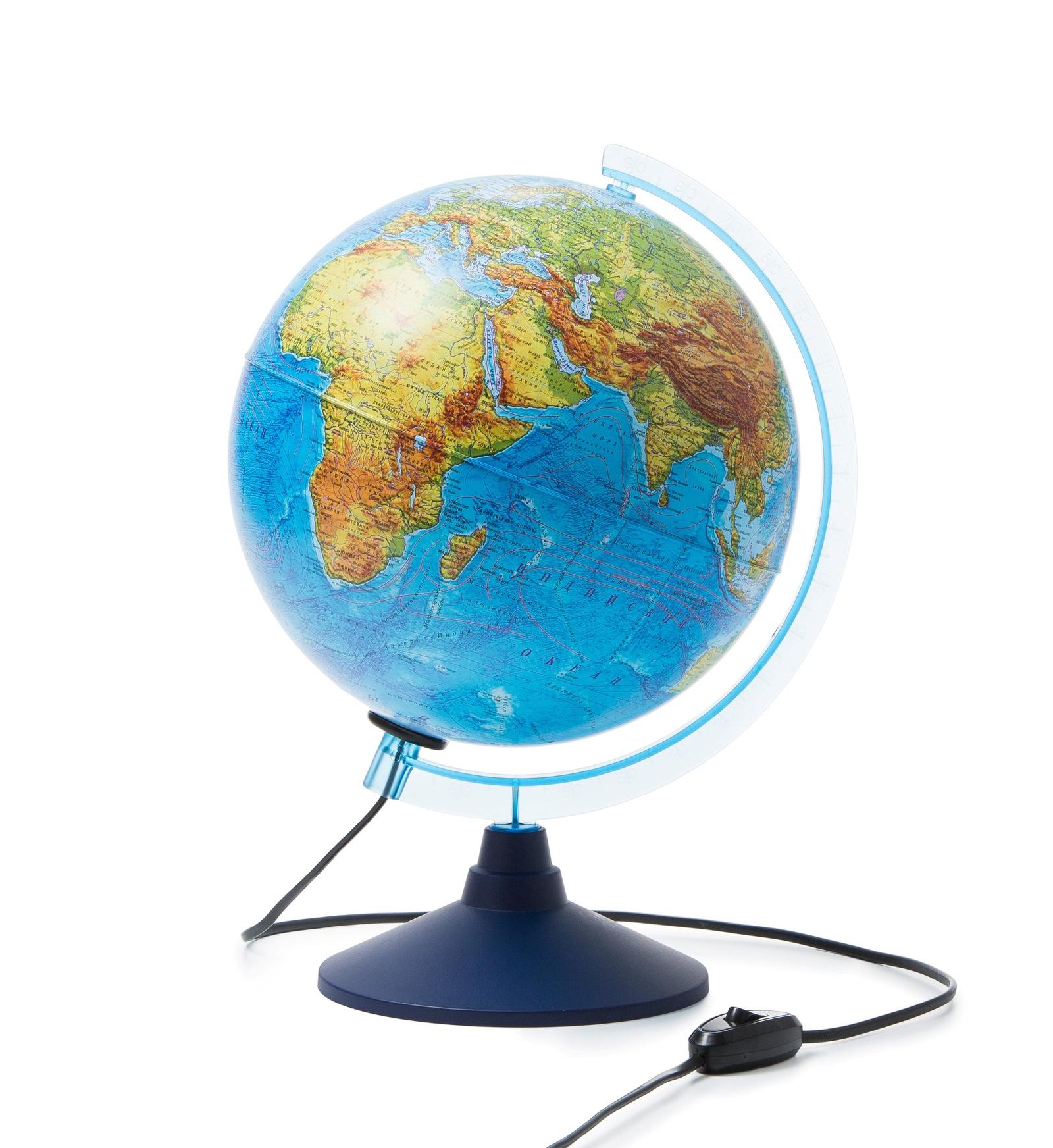 Глобус Globen Земли физический с подсветкой, диаметр 250 мм все цены