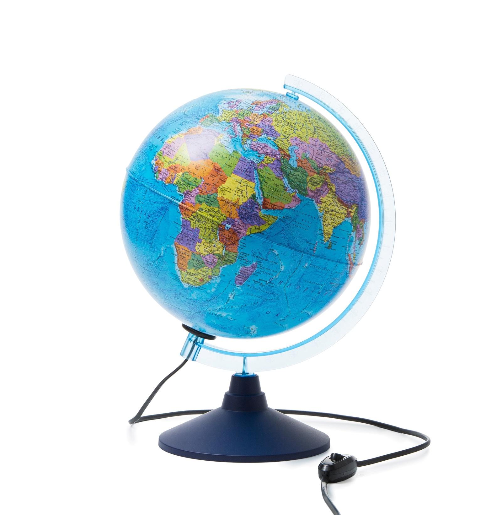 Глобус Globen Земли политический с подсветкой, диаметр 250 мм