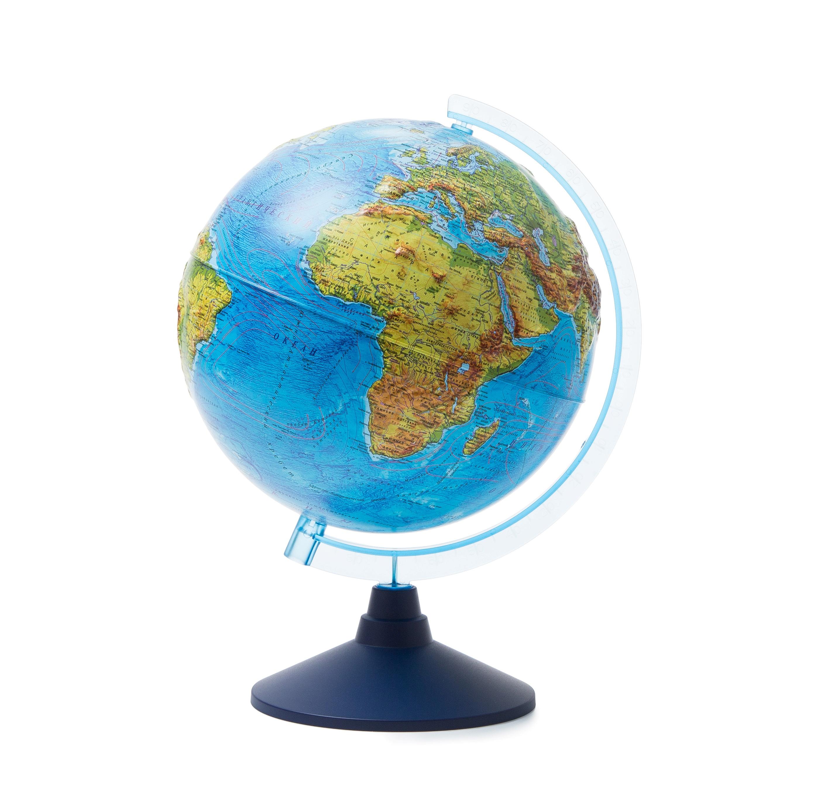 Глобус Globen Земли физический рельефный, диаметр 250 мм все цены