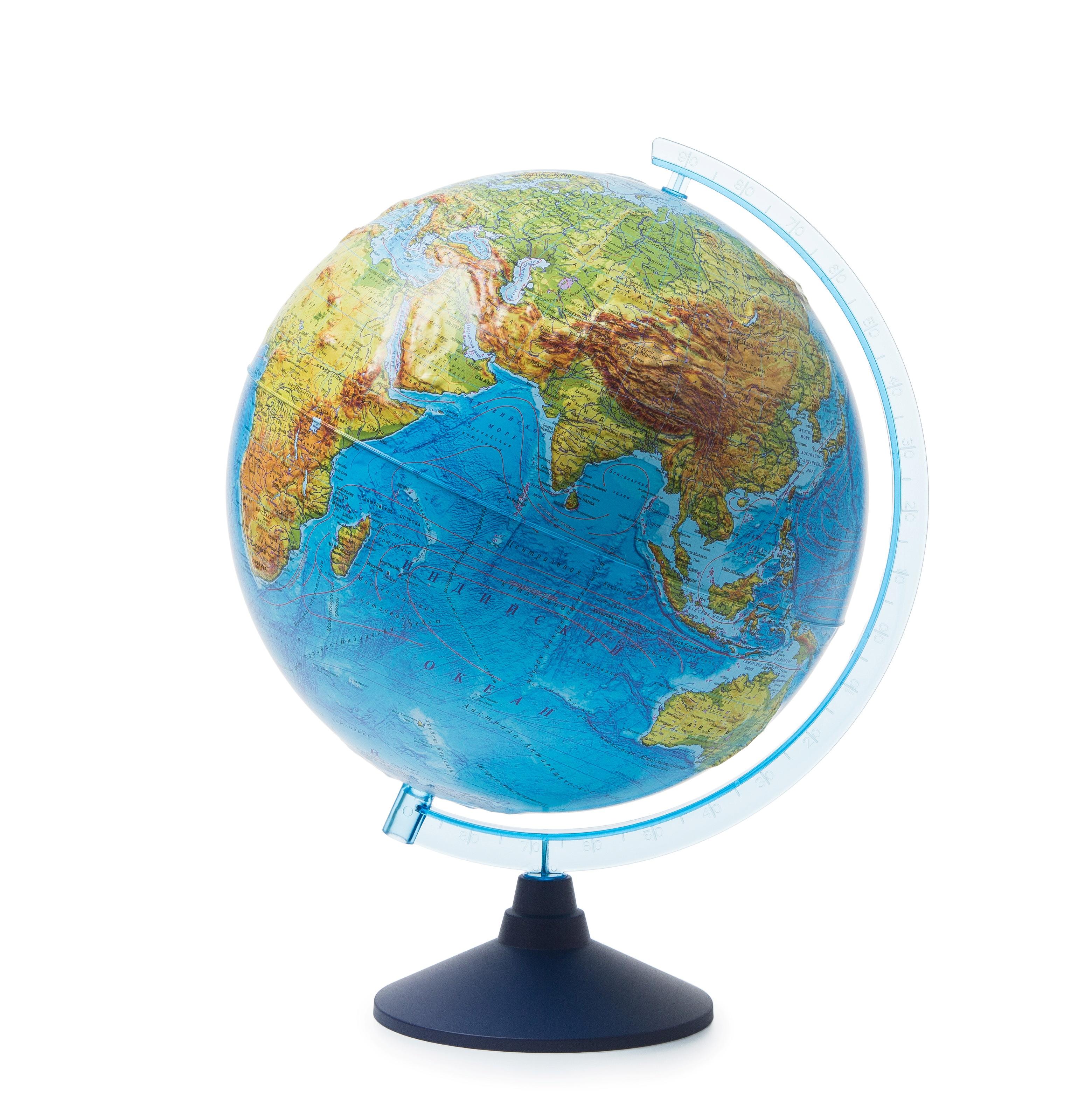 Глобус Globen Земли физический рельефный, диаметр 32 см глобус globen физический рельефный