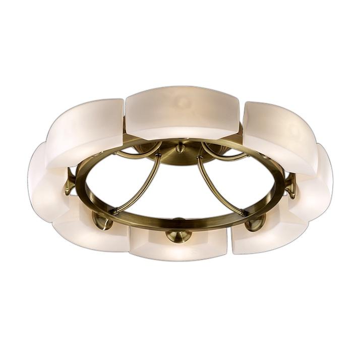 Потолочный светильник Odeon Light 1713/8C, бронза odeon light потолочная люстра odeon light barca 1713 8c